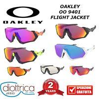 OAKLEY OO 9401 FLIGHT JACKET OCCHIALE DA SOLE CICLISMO UOMO DONNA POLAR PRISMA