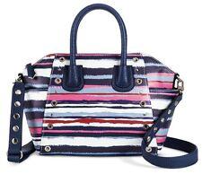 e902b0fb8 Sam & Libby Navy Stripe Grommet Satchel Handbag Tote Bag w Crossbody Strap  - NWT