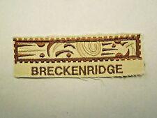 Vintage Breckenridge Colorado Emblem Logo Patch Cut from a Hat