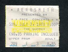 1978 AC/DC Journey Aerosmith concert ticket stub Houston TX Powerage Tour