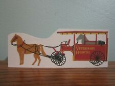 Horse Drawn Veterinary Hospital Wagon Accessory Cat'S Meow Village Wood Retired