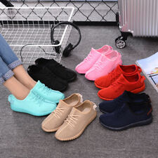 Women Breathable Lace Up Athletic Shoes Candy Color Flat Casual Sneakers Shoes