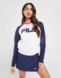 New Fila Women's Colour Block Logo Crew Sweatshirt from JD Outlet