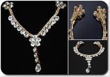 Luxus Tikka Indien Diadem Tiara Bollywood Doppel Haarspange Kette Hochzeit Braut