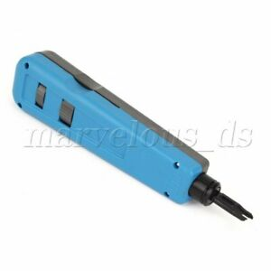 Plastic Blue 110/88 Cutting Tool Cat5/Cat6 Cable Punch Down Tool Blister Card