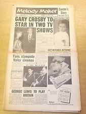 MELODY MAKER 1957 JANUARY 12  GARY CROSBY GUY MITCHELL JAZZ BIG BAND SWING