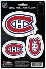 """(HCW) Montreal Canadiens 8"""" x 5.25"""" Die-Cut Premium Vinyl Decal Sheet Set of 3"""