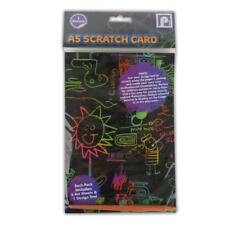 A5 Scratch Card 5 Sheets - Travel Party Craft Doodle Colourful Creative Design