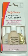 SALLY HANSEN Hard As Nails FRENCH MANICURE Kit With UV TopCoat SHEER ROMANCE #2