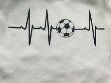 Iron On EKG Heart Beat Sports Love Soccer, Baseball, Cheer Decal Adult T shirt