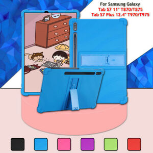 """For Samsung Galaxy Tab S7 11"""" T870 S7 Plus 12.4"""" T970 Silicone Stand Tablet Case"""