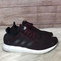 Adidas Swift Run Mens Shoes AC8118 Maroon Black White Knit Running Size 11