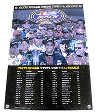2002 Busch Beer Series Nascar Dale Earnhardt Jr Schedule Poster Mike Waltrip