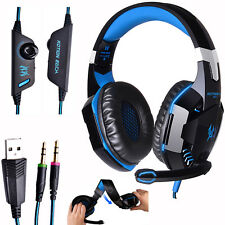 Gaming Headset Kotion G2000 Deep Bass Stereo Wit Mic LED Light for PC Gamer AU