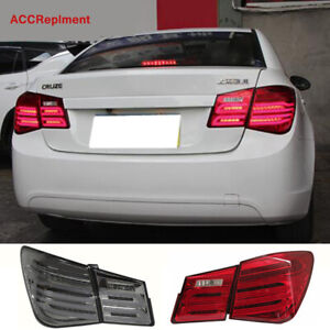 For Chevrolet Cruze Tail Lights Assembly 2011-2015 Dark / Red LED Rear Lamps