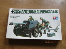 Miniaturas militares de Tamiya 7.5cms antitanque pistola PAK40/46 1/35 escala no 47