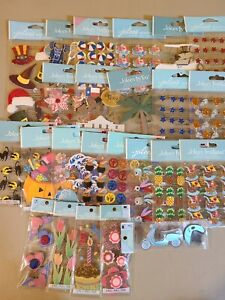 24 Packages Of Jolee's Scrapbooking Stickers All Different!