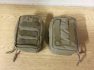 2 X GENUINE RARE USMC TACTICAL TAYLOR NVG POUCH COYOTE BROWN NEW !!!