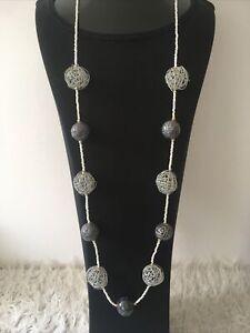 Statement Kette Damen Perle Lange Kette extravaganter Modeschmuck  Halskette