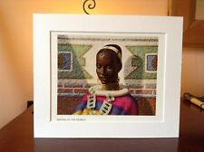 ORIGINAL RARE Tretchikoff Woman Of The Ndebele 1960s - Vintage Mounted Art Print