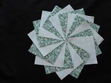 30 4x4 Green Quilt Fabric Squares~4066b