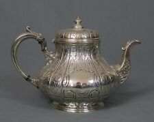 Victorian Large Silver Teapot by Martin Hall & Co Sheffield