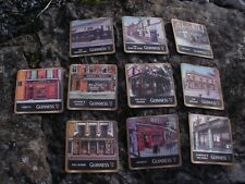 GUINNESS BEER COASTERS - FEATURING VARIOUS GUINNESS PUBS - 10 COASTERS - 4th lot