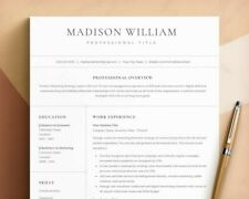 Cv Template Professional for Word and Pages, Google Docs Resume, Curriculum