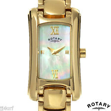 Rotary Ladies Polished Gold Tone Stainless Steel Dress Watch LB02814/41, MOP