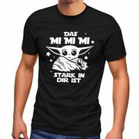 Herren T-Shirt Parodie Spruch Das mi mi mi stark in dir ist Fun-Shirt Moonworks®