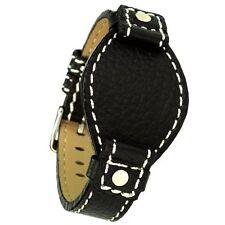 """Uhrenarmband """"Buckle-Up"""" Leder schwarz 18 mm Uhrband Ersatzband"""