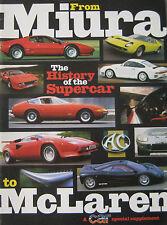 Car magazine supplement featuring Lamborghini, Ferrari, Porsche,AC Cobra,McLaren
