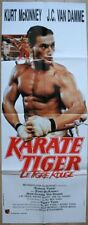 KARATE TIGER Affiche Cinéma 160x60 Movie Poster JEAN CLAUDE VAN DAMME