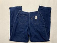Levis 28 x 32 Vintage Prospector Orange Tab Denim Blue Jeans 70's Dark Wash
