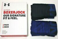 "Men's Under Armour Tech Boxer Jock 2-Pack 6"" Inseam (Blue) Novelty Underwear"