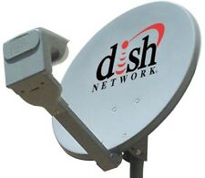 "20"" DISH NETWORK SATELLITE DISH 500 & TWIN DP PRO DPP LNB +SWITCH BELL TV TELUS"