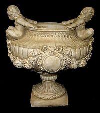 "12"" Classical Greek Heavenly Cherubs Angels Pot Urn Home Decor Planter"