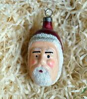 Antique German Glass Ornament - Santa head    (# 5626)