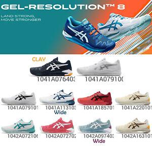 Asics Gel-Resolution 8 / Clay Monfils Stability Men Women Tennis Shoes Pick 1