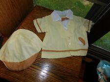 Elephant Boy Shirt w/ Matching Hat Vintage