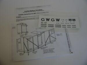 G64 gauge GWR Mink A wagon kit
