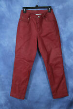 Vintage Red Leather Pants Newport News Easy Style Biker Pants