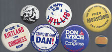 VINTAGE INDIANA U.S. HOUSE OF REPRESENTATIVES CAMPAIGN BUTTON GROUP - I