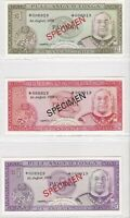 BN6) Tonga 1978 set of 4 Uncirculated SPECIMEN Banknotes T$1 – T$10