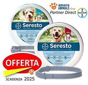 Bayer Seresto - Collare per CANE fino e oltre 8 kg cani piccoli e grandi OFFERTA