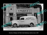 OLD LARGE HISTORIC PHOTO OF DEARBORN MICHIGAN, THE WHITE CASTLE HAMBURGERS c1940