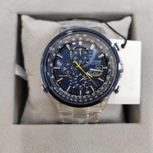 Citizen Crono Aviator Men's Eco Drive wrist Chronograph Steel Watch with Box NEW