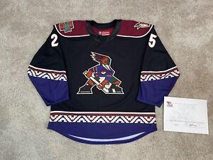Tucson Roadrunners AHL Game Worn Used Kachina Alternate CCM Quicklite Jersey 56