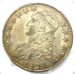 1828 Capped Bust Half Dollar 50C Coin - Certified PCGS AU58 - $1,000 Value!
