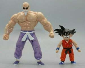 "2003 Jakks Pacific Dragon Ball 6"" Action Figure Super Master Roshi Rare and Goku"
